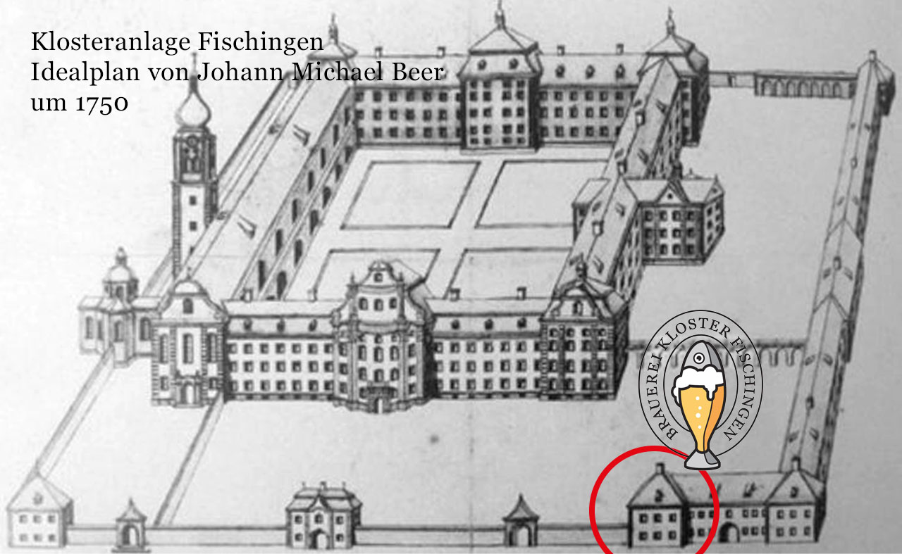 Klosterplan Fischingen um 1750 Plan Michael Beer (!)