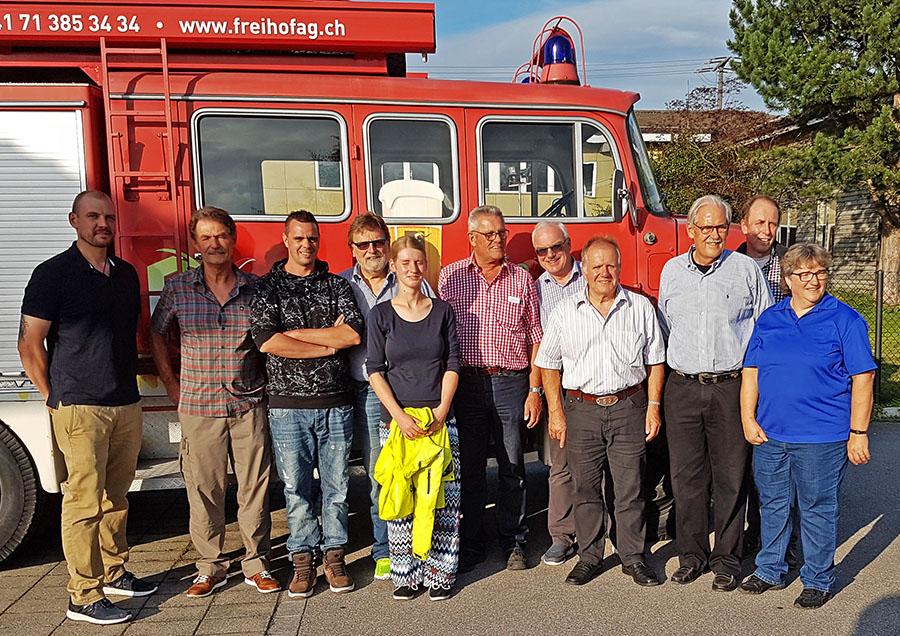 PILGRIM Team bei der Freihof Brauerei in Gossau SG 21.8.2017