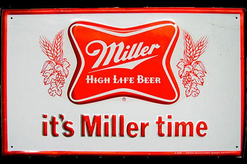 Miller Brewing Co. Schild